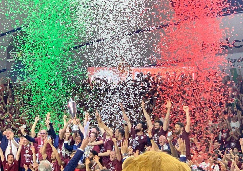Per la quarta volta Campioni d'Italia, grazie Reyer!